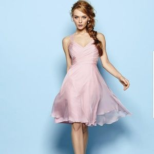 B2 Jasmine blush pink lace strap dress NWT 14